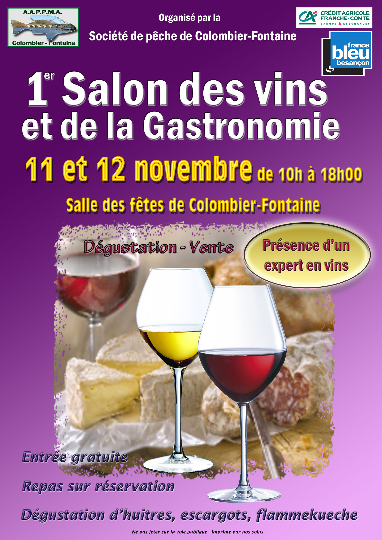 Les derni res infos l 39 aappma colombier fontaine for Salon de la gastronomie brest 2017